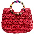 Beaded Straw Purse