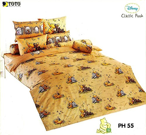 "Disney Classic Pooh Bed Fitted Sheet Set By Toto : Small Size 3.5'X6.5'X8"" 3 Pieces (1 Bed Fitted Sheet, 1 Standard Pillow Case And 1 Standard Bolster Case) (Ph55) front-792373"