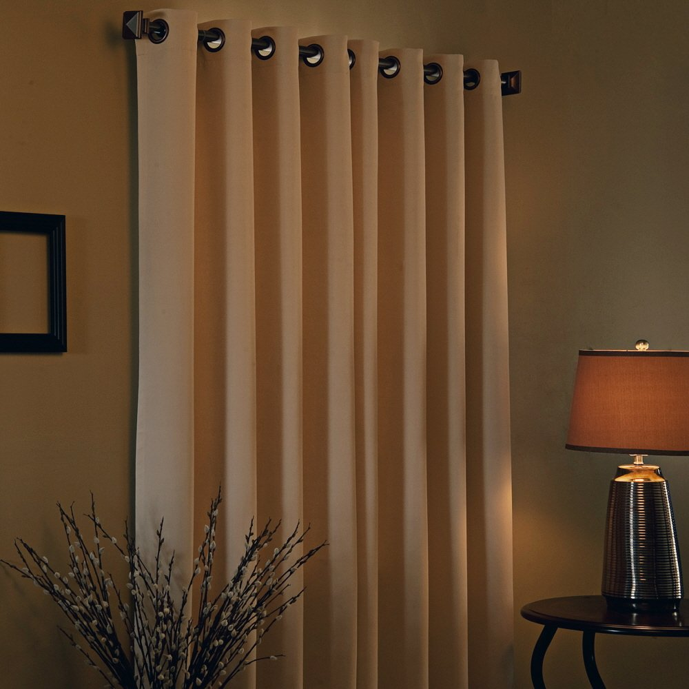 Solid Grommet Top Thermal Insulated Blackout Curtain 84