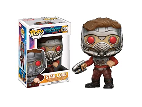 Les Gardiens de la Galaxie 2 - Figurine POP! Bobble Head Star-Lord (Masked) 9 cm