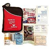 ResQue1st Trauma & Auto Emergency First Aid Kit with QuikClot Blood Clotting Bandage & SWAT-T Tourniquet