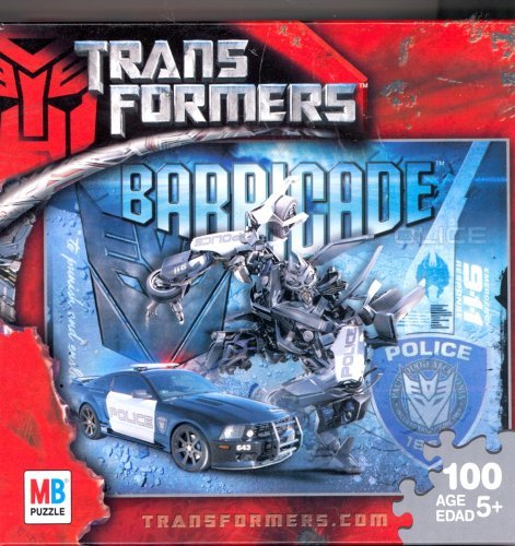 Transformers Barricade 100 Piece Jigsaw Puzzle