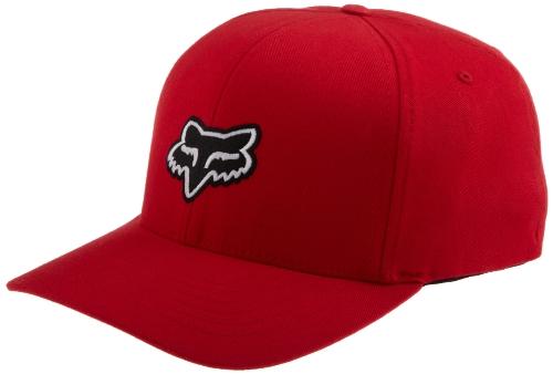 Curved Peak Flexfit Cap Fox Legacy Rosso