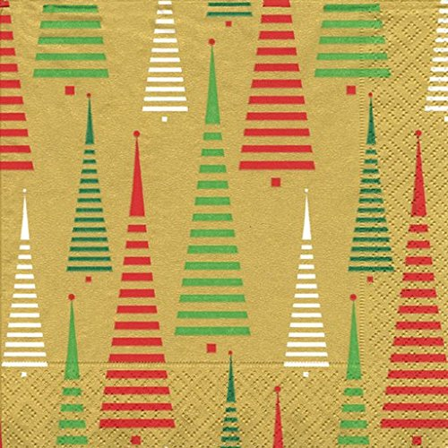 entertaining-with-caspari-cocktail-napkins-tree-between-the-lines-gold-pack-of-20