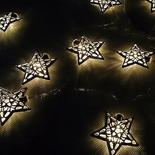 Bluelover-36-m-12-LED-Solar-angetriebene-Sterne-Zeichenfolge-LichterkettenWeihnachten-Dekor-wei