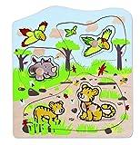 Hape 702816 - Puzzle de encajar, diseño de animales salvajes