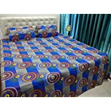JMT(100% Heavy Stuff Pure Cotton Double Bedsheet With 2 Pillow Cover,size -230x250 Cms, Pillow - 69x46 Cms) - B074D3LSX7