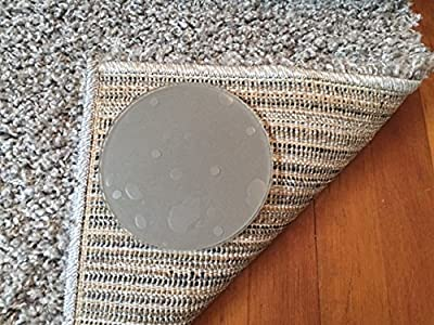 Sticky Discs Non-Slip Rug Pads For RUG-ON-FLOOR Anti-Slip. Rug Stickers. No Residue. 8 Pack. Limits MEDIUM/LARGE Rugs/Exercise/Door Mats From Moving On FLOORS. BRAND NEW!