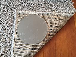 Sticky Discs Non-Slip Rug Pads For RUG-ON-FLOOR Anti-Slip. Rug Stickers. No Residue. 4 Pack Intended To Limit Small Rugs/Exercise/Door Mats From Moving On FLOORS. BRAND NEW!