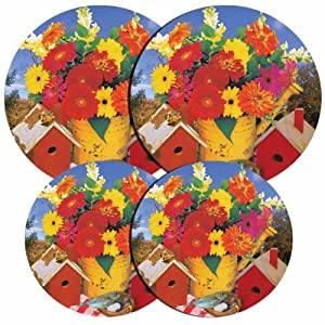 Reston Lloyd Electric Stove Burner Covers, Set of 4, Birdhouse