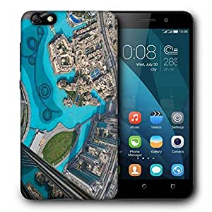 Snoogg Amazing View Of Lake Printed Protective Phone Back Case Cover For Huawei Honor 4X