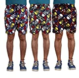 American-Elm Men's Multi Color Printed Shorts-Combo Of 3 (X-Large)