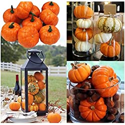 Express$ 16pcs/Pack Mini Foam Pumpkin For Thanksgiving Fall Halloween Table Decor Vase Filler