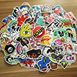 100 lb stickers perfect personalized laptops, luggage, cars, bicycles, children, motorcycles, skateboard luggage, bumper stickers hippie stickers explosion proof (100pcs-E) (Color: 100pcs-E)