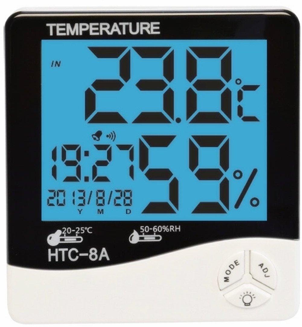 Lcd Night Light Indoor Humidity Monitor Temperature Sensor