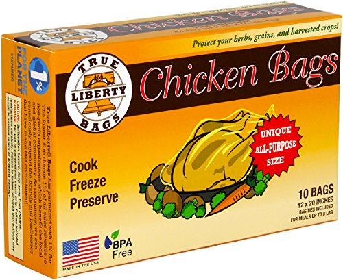 True Liberty Bags - Chicken 10 Pack - All Purpose Home and Garden Bags (Oven Bags Small compare prices)