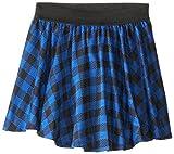 Beautees Big Girls' Plaid Skater Skirt, Cobalt, X-Large