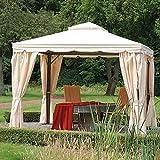 Siena Garden 621082 Seitenteile-Set zu Pavillon Dubai, 3x3m Polyester 180g/m² natur