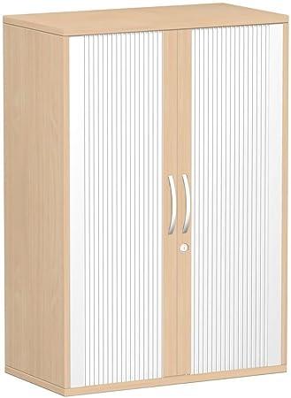 Gera Möbel querroll laden congelatore fondo esterno 25mm, con piedini, chiudibile a chiave, 800x 425x 1182, colore: argento/faggio