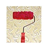 Black Temptation Embossed Paint Roller Wall Painting Runner Wall Decor DIY Tool, Pattern 18 (Color: Multicolor, Tamaño: 5.9 inches)