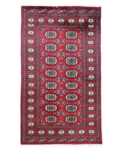 Bashian Hand Knotted Royal Bukara Rug, Red, 3' X 5'