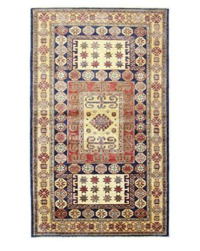 Bashian Rugs One-of-a-Kind Hand Knotted Kazak Rug, Dark Blue, 3' 10 x 6' 4
