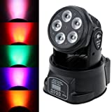 Lixada DJ Moving Head Stage Effect Lights 75W RGBWY Par Wash Light 10/15 Channels 4 Control Modes for Disco Club Party Wedding (Color: 1PC)