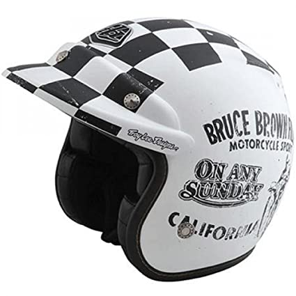 Troy Lee Designs On Any Sunday Open Face Limited Edition Helmet Black and White