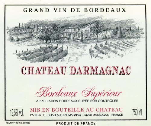 2010 Chateau Darmagnac Bordeaux Superier Controlee 750 Ml