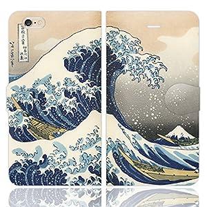 iPhone7用 手帳型ケースカバー 葛飾 北斎 富嶽三十六景