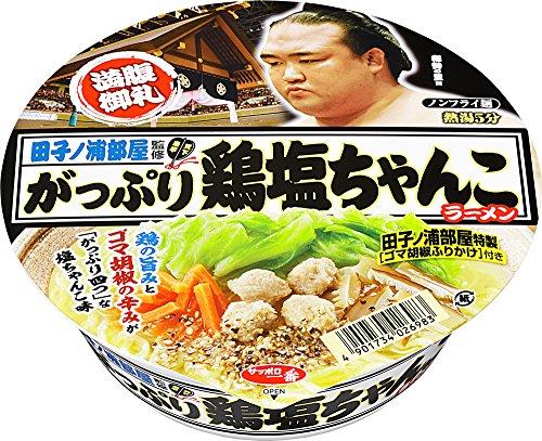 サッポロ一番 田子ノ浦部屋監修 がっぷり鶏塩ちゃんこラーメン 108g×12個