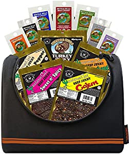 Buffalo Bills 12-Piece Beef Jerky Sampler Basketball 6-Pack Gift Cooler (12 mixed 1.5oz jerky packs)
