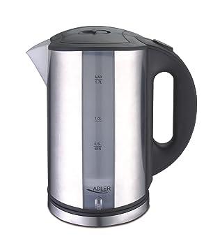 1.8L Wasserkocher Glass automatische Abschaltung und /Überhitzungsschutz 2200W Electric Kettle 1,8 Liter f/ür Tee und Wasser mit LED-Anzeige 100/% Edelstahl Innendeckel