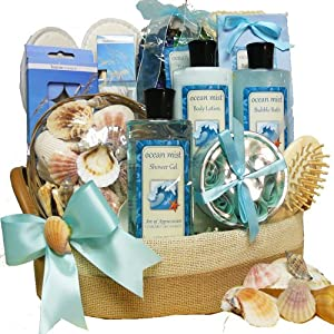 Art of Appreciation Gift Baskets Seaside Get A Way Ocean Mist Spa Bath and Body Set