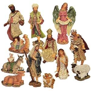 Crèche de Noël grands personnages de 30cm
