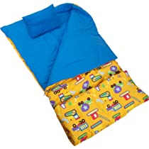 Wildkin Olive Kids Under Construction Sleeping Bag