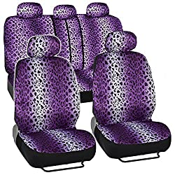 See BDK 9 Pc Safari Print Low Back Front Car Seat, Rear Bench Cover with Head Rest Covers Set Details