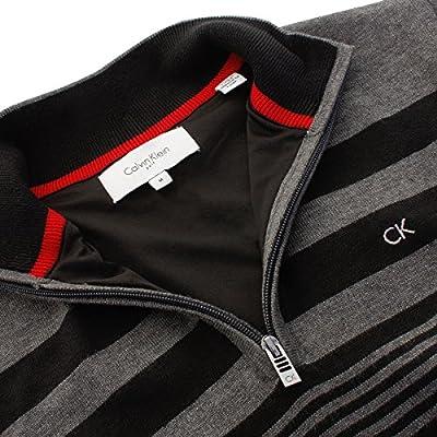 Calvin Klein Golf Men's CK Stripeblock Lined Sweater - US XXL - Charcoal