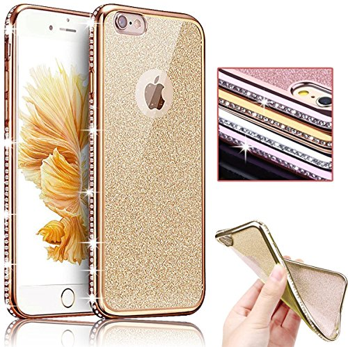 Sunroyal® Bling TPU Coque pour Apple iPhone 6/6S (4.7 pouces) Ultra Mince Paillette Case Cover Telephone Portable Soft Housse Cas Prime Flex Silicone ...