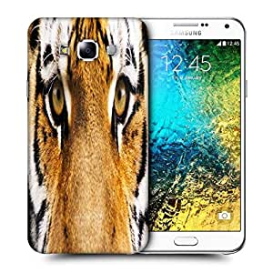 Snoogg Tiger Eyes Printed Protective Phone Back Case Cover ForSamsung Galaxy E7
