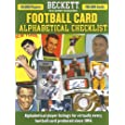 Beckett Football Alphabetical Checklist (Beckett Football Card Alphabetical Checklist)