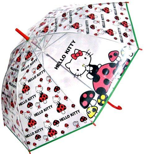 スモールプラネット HELLO KITTY ビニール傘 きのこ 親骨55cm ポリエチレン HKUM10