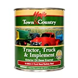 Majic Paints 8-0954-2 Town & Country Tractor, Truck & Implement Oil Base Enamel Paint, 1-Quart, Ford Red (Color: Ford Safety Red, Tamaño: Quart)
