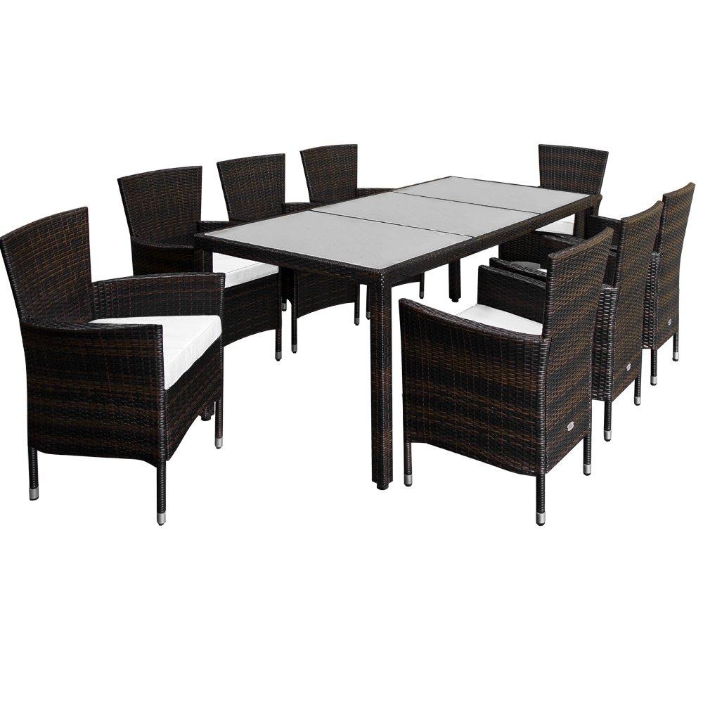 PolyRattan Sitzgruppe 8+1 Gartenmöbel Lounge Sitzgarnitur Gartenset Garten Rattan günstig bestellen