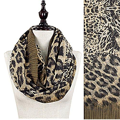 Leopard Animal Print Infinity / Loop Scarf (F005Kh)