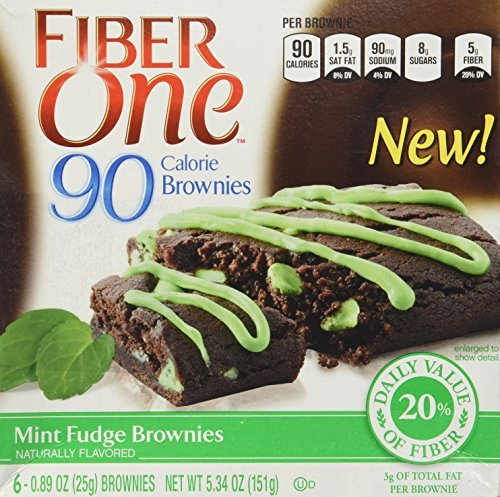 general-mills-fiber-one-90-calorie-mint-fudge-brownies-6-count-534oz-box-pack-of-3-by-general-mills