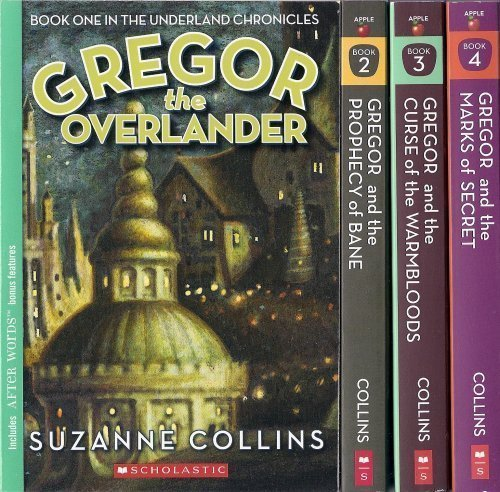 Cover of The Underland Chronicles Set, Books 1-4: Gregor the Overlander, Gregor and the Prophecy of Bane, Gregor and the Curse of the Warmbloods, and Gregor and the Marks of Secret