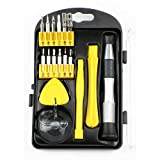 17-in-1 Portable Repair Tool Kit for iPhone , MacBook , iMac , and other Electronics - Magnetized Driver Handle and Bits