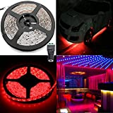 ELlight 3528 SMD Flexible Lighting 16.5FT 5M 300Led Red Light Strip Waterproof,Xmas Decorative LED Tape, Adapter not Included