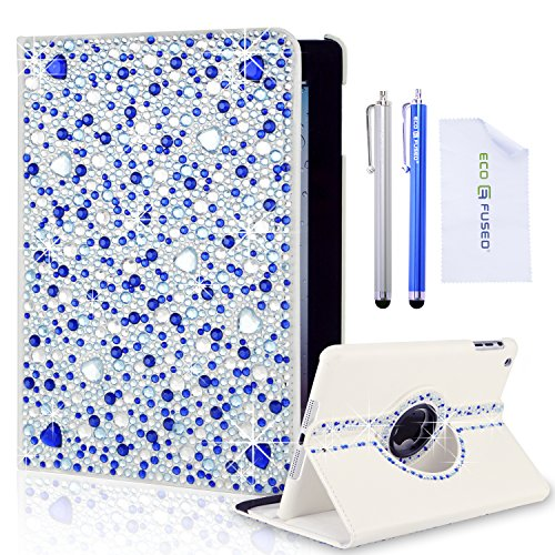eco-fused-case-bundle-for-ipad-mini-including-a-rotating-leather-case-with-rhinestones-2-stylus-pens